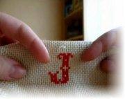 Как вышивать буквы крестиком?