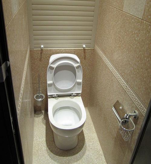 Дизайн туалета маленького размера с