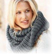 Как вязать шарф-хомут?