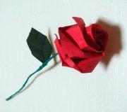 Роза оригами - схема видео