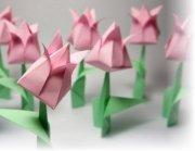 Оригами тюльпан из бумаги видео