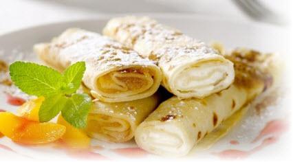 Блинчики с творогом и бананом рецепт с фото пошагово