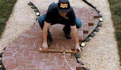 Укладка тротуарной плитки своими руками видео